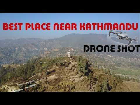 Mudkhu View Tower | Beautiful Place Near Kathmandu | Aerial SD | Drone Shot