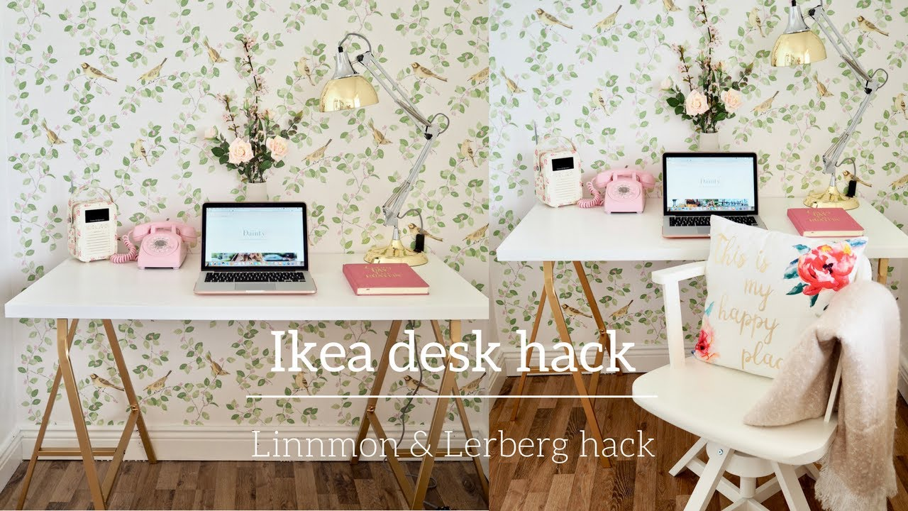 How I Hacked An Ikea Linnmon And Lerberg Table Using Spray Paint Youtube