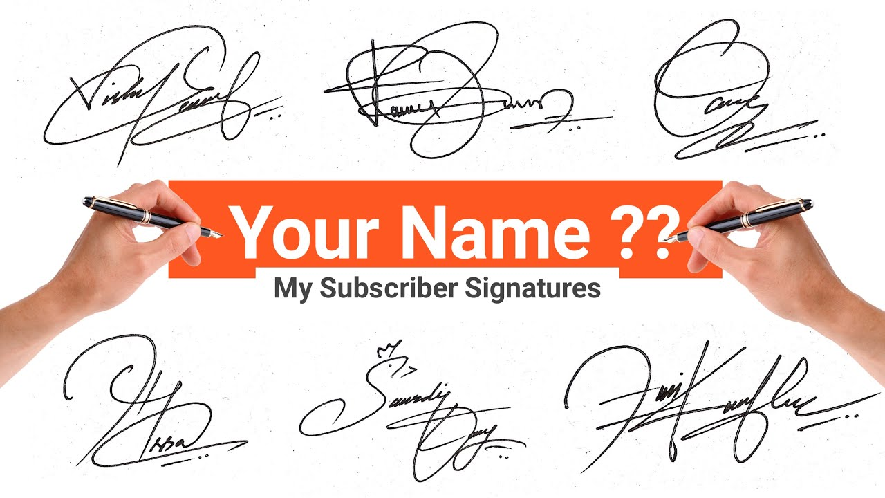 ✔️ How To Write A Signature  Signature Style Of My Name  Signature Expert