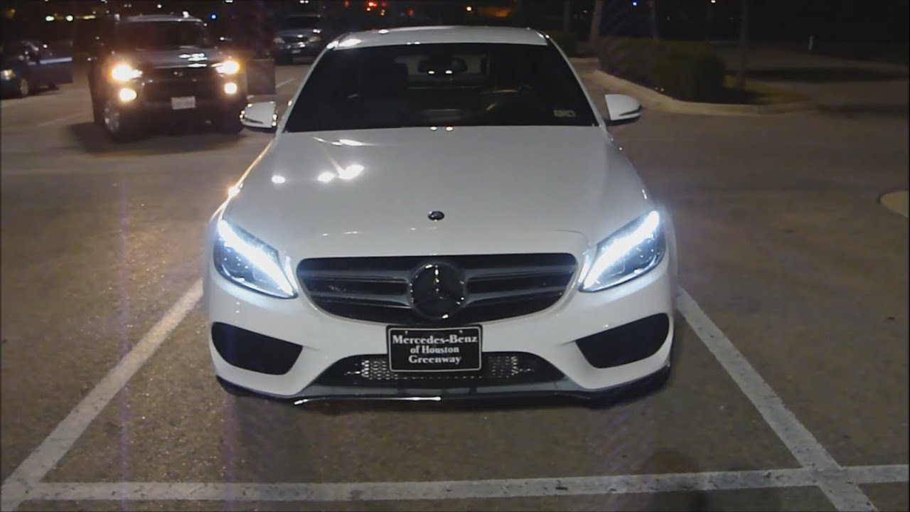 2015 mercedes benz c class (night review) led - youtube