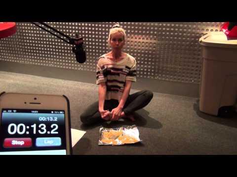 Kerrang! Radio: Kate Lawler - Most Crisps Eaten Using A Foot In A Minute