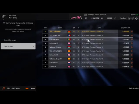 Gran Turismo Sport | 4th Round Of The Official FIA GT Championship 2019