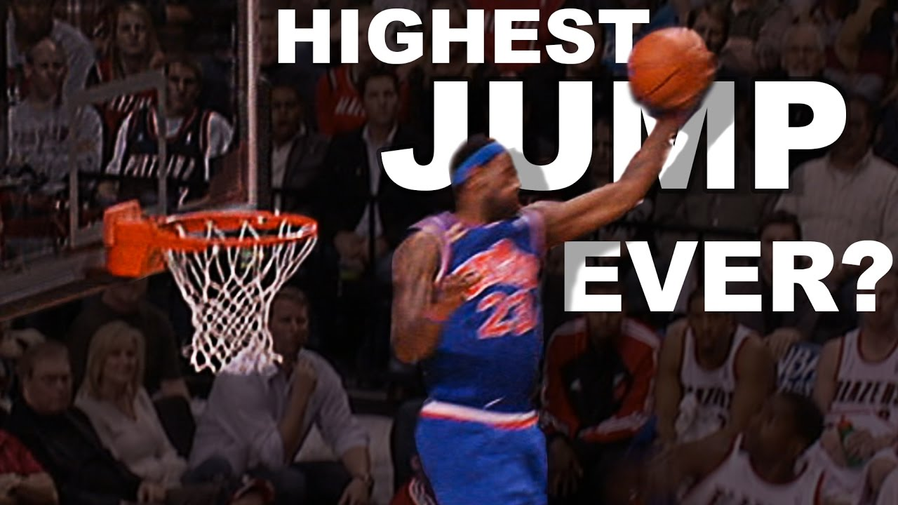 31c05e52ea4 LeBron James Highest Jump EVER  Gets Head Over The Rim From 01.10.2010 -  YouTube