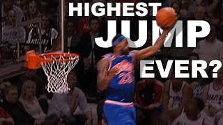LeBron James Highest Jump EVER? Gets Head Over The Rim From 01.10.2010