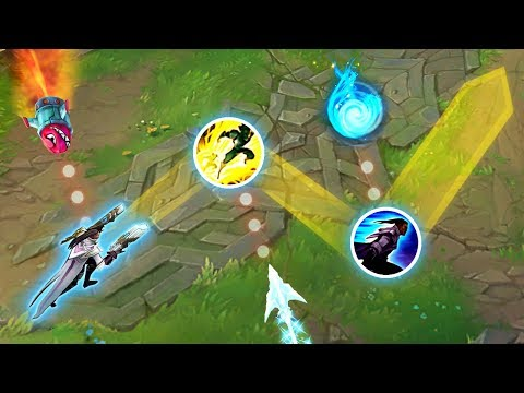 "Perfect ""Script Like"" Dodges - GODLIKE REFLEXES - League of Legends"