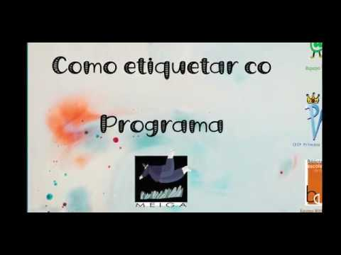 Programa Meiga: Como imprimir as etiquetas