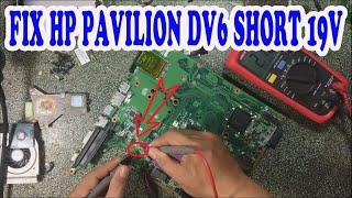FIX LAPTOP HP PAVILION DV6 UT3 SHORT 19V