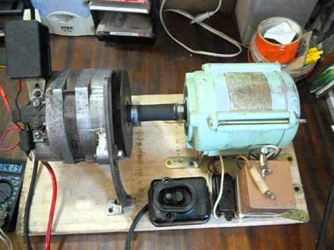 видео: быстрая зарядка эл.двигатель+генератор