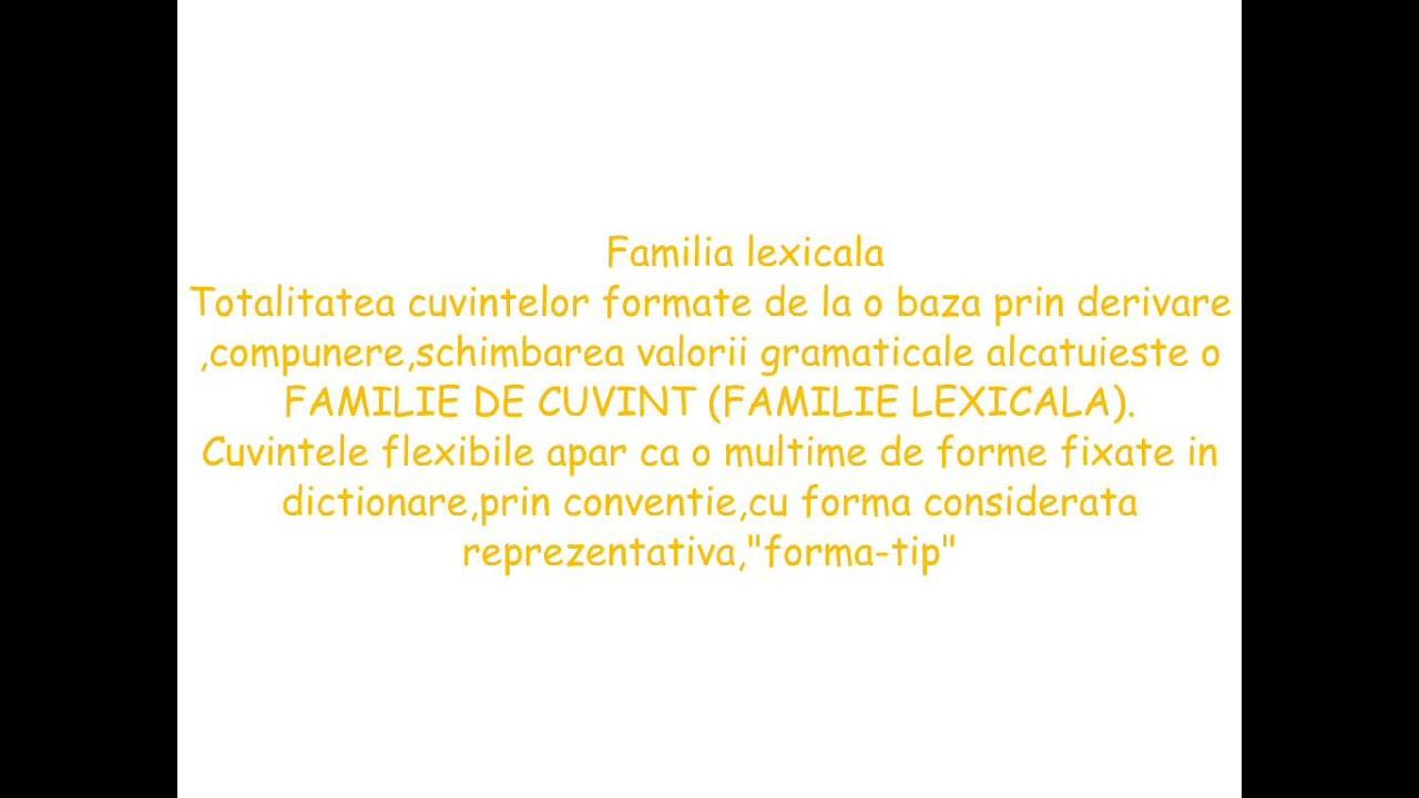 Familia lexicala a cuvintelor negru