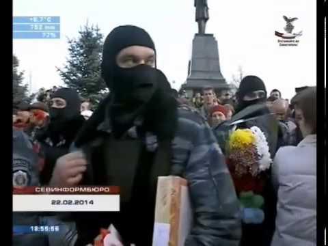КРЫМ!! Встреча Героев!! - Бойцов Беркута в Севастополе..!! [22.02.2014]