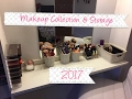My Makeup Collection & Storage 2017