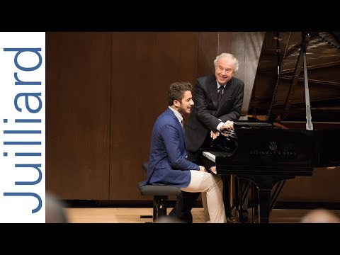 Christian De Luca: J.S. Bach's Italian Concerto | Juilliard Sir András Schiff Piano Master Class