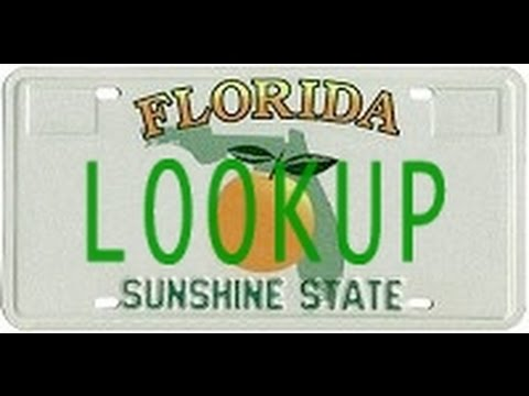 Florida License Plate Lookup Youtube