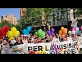 Gay pride parade DEMONSTRATION PRIDE LGTBI BCN June 2018 opening