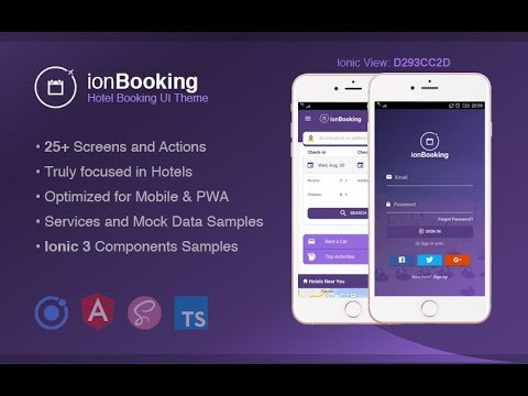 IonBooking - Ionic 3 Hotel Booking Theme - YouTube