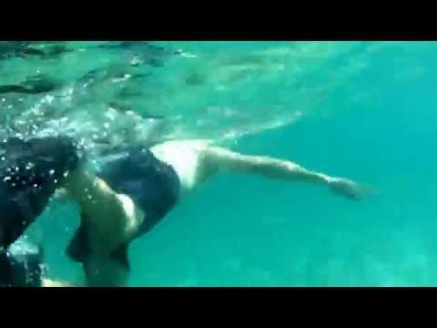 Snorkeling with some friends at Laguna Beach in California. The song is