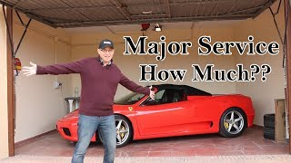 Ferrari 360 major service - How much does it cost? - Vlog 103