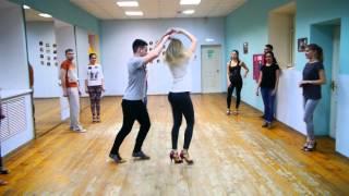 Женя и Ксюша / Сальса / открытый урок в школе танцев Шарм