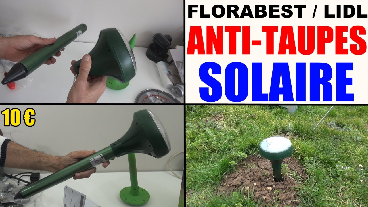 anti taupes solaire florabest lidl solar power mole repeller solar maulwurfschrec youtube. Black Bedroom Furniture Sets. Home Design Ideas