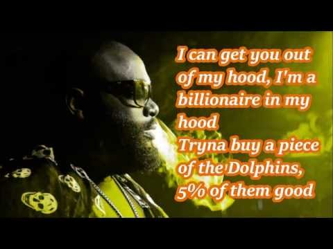 Rick ross - Hood Billionaire lyrics on screen