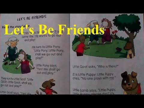 Let's Be Friends Story Reading by Princess in English