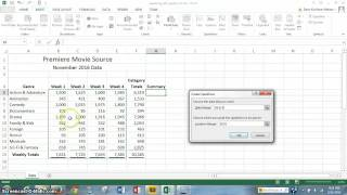 Project 3:  Office 2013 Excel Chapter 3 STEPS 7 - 12