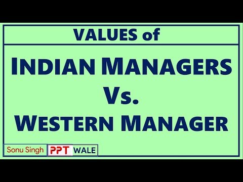 VALUES OF INDIAN MANAGERS VS WESTERN MANAGERS | BBA/MBA