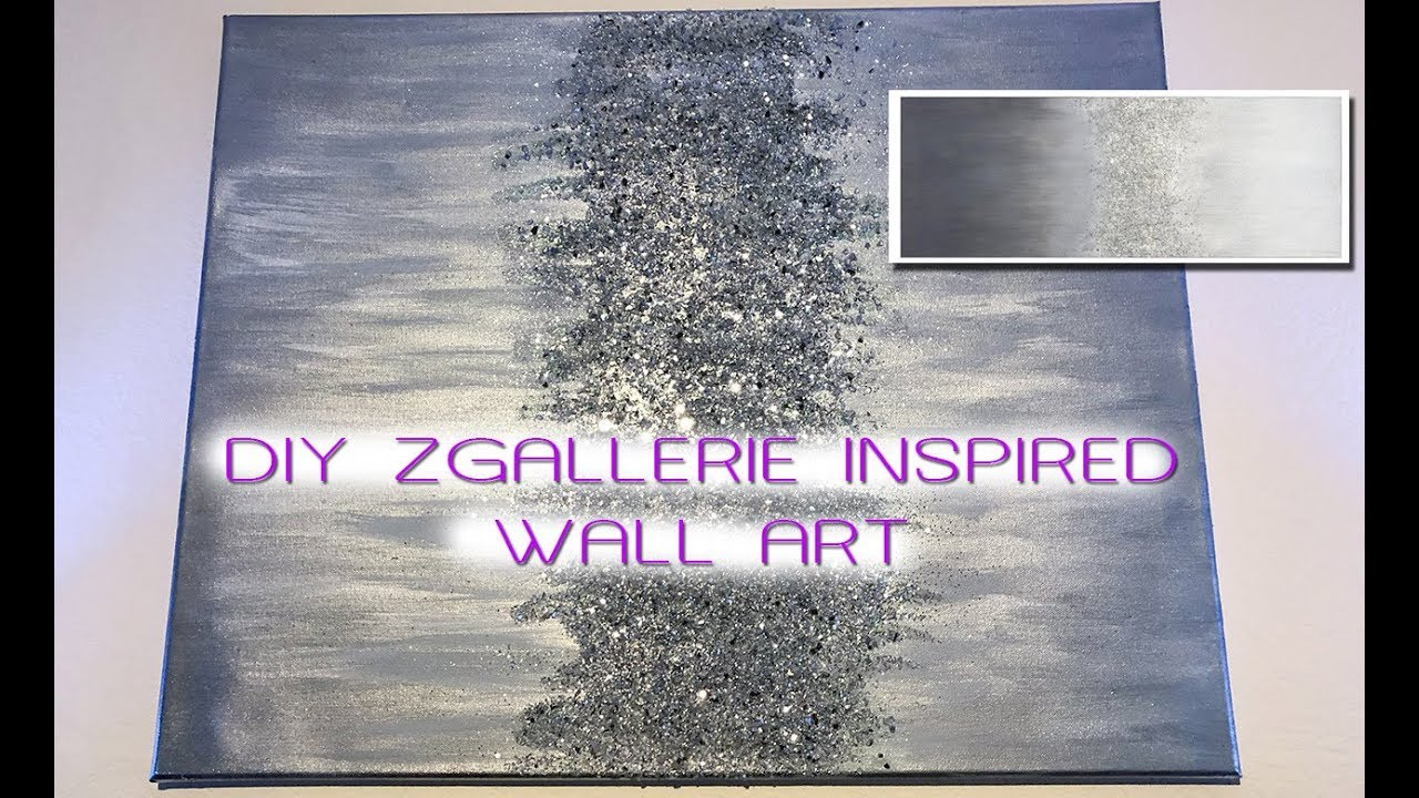DIY ZGALLERIE INSPIRED WALL ART | MOOREGIRL - YouTube