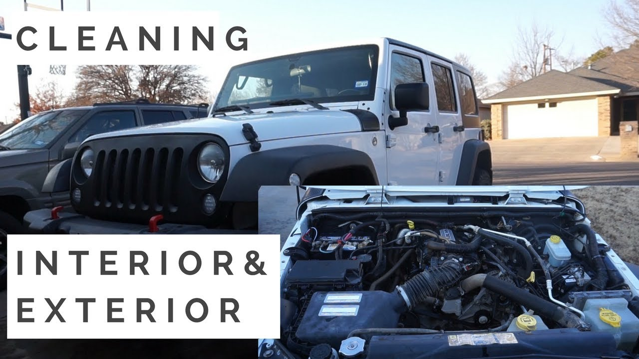 How I Detail My Jeep! [Engine Bay, Exterior, Interior] - YouTube