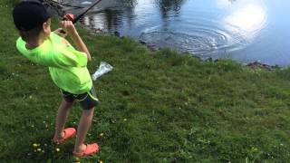 8 Year Old Catches Largest Trout in Shediac