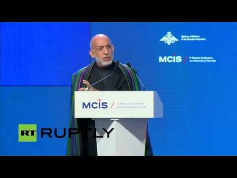 Hamid Karzai at 5th Moscow Conference