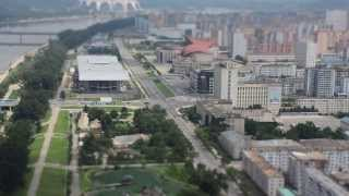 DPRK Tilt shift - Juche tower looking at intersection