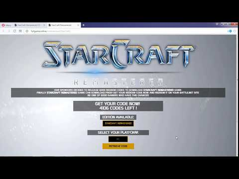StarCraft Remastered CD-KEY Serial Download PC Only