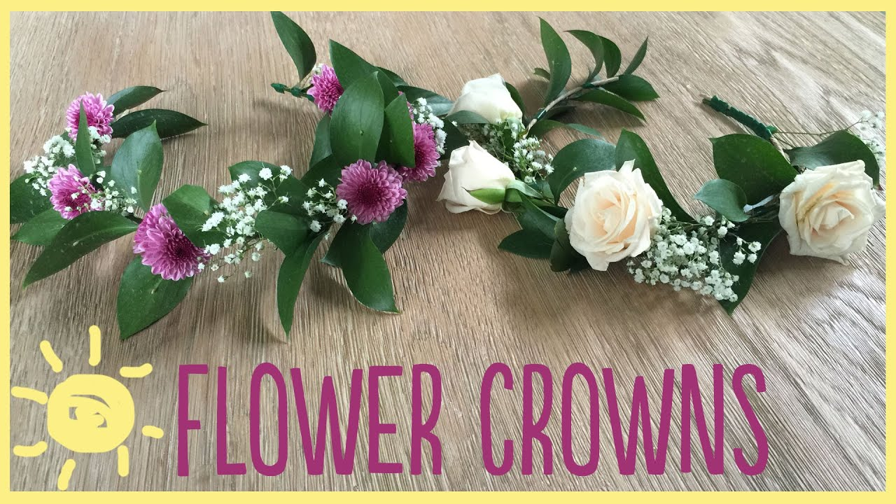 Diy how to make a flower crown real flowers youtube izmirmasajfo