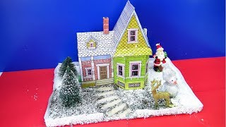 DIY Miniature Christmas House | Christmas decor