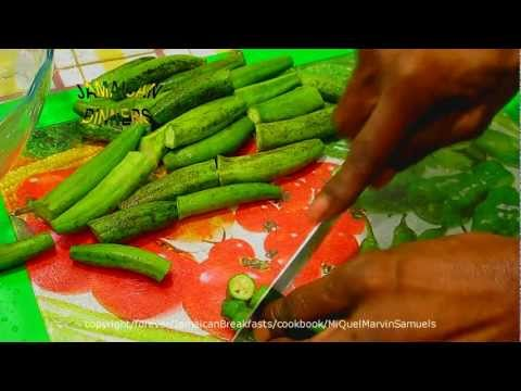 How to prepare and cook Okra and Codfish(Saltfish)