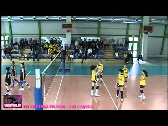 Vis Fiamenga Foligno vs CUS L'Aquila - 2° set