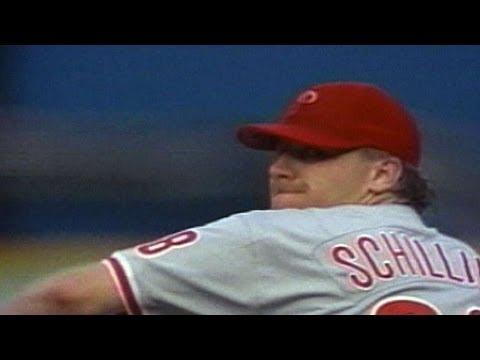 PHI@MIA: Curt Schilling reaches his 300th K of 1998