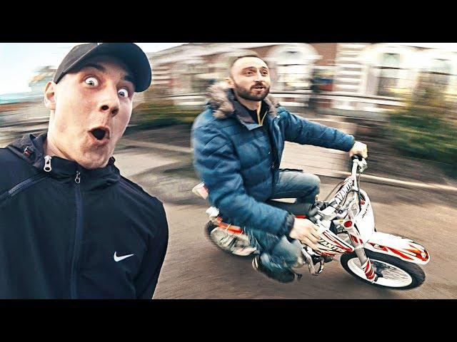 Реакция людей на ПИТБАЙК - Парень в ШОКЕ от мотоцикла