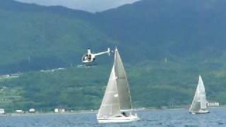 火山めぐりヨットレース2009 「海の金魚」撮影風景