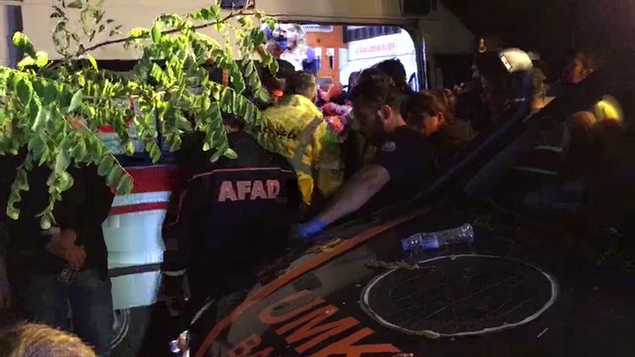 Bartın'da baraja uçan araçtan 4 kişinin cesedi çıkartıldı