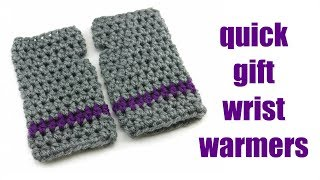 How to Crochet the Quick Gift Wrist Warmers (12 Weeks of Gifting Series)