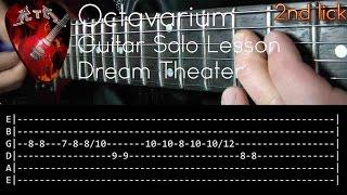 Octavarium Guitar Solo Lesson - Dream Theater (with tabs)