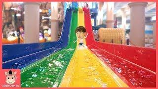키즈카페 미끄럼틀 타요 뽀로로 어린이 놀이공원 놀이 ♡ 색깔놀이 유아 영어 Learn Colors Kids Indoor Playground | 말이야와아이들 MariAndKids