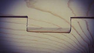 Making a Wooden Hinge,  practice run