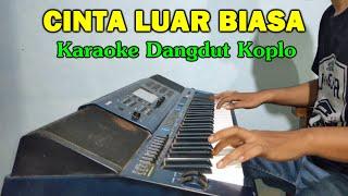 Gambar cover CINTA LUAR BIASA Karaoke Koplo Jandut Tanpa Vokal - CASIO MZX500