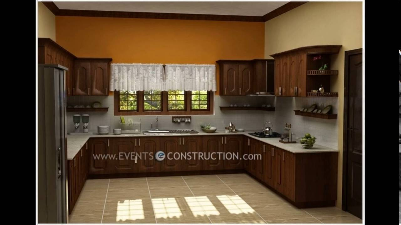 Modern kitchen designs in kerala - YouTube on Model Kitchen Design  id=54306