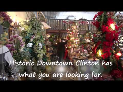 Christmas Shopping in Historic Downtown Clinton