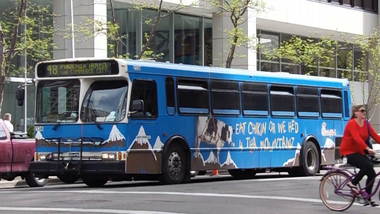 Rtd Denver Orionv Bus 2136 Operating Route 48 In Downtown Denver Co