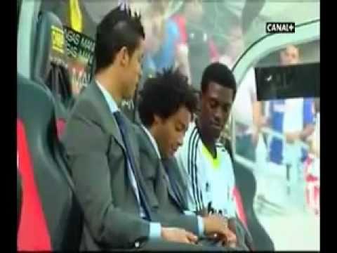 Cristiano Ronaldo,Marcelo and Adebayor joking around